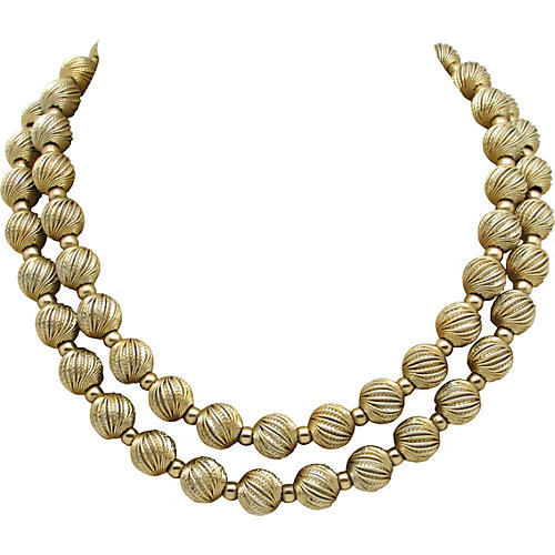 Monet Double-Strand Ornate Bead Necklace