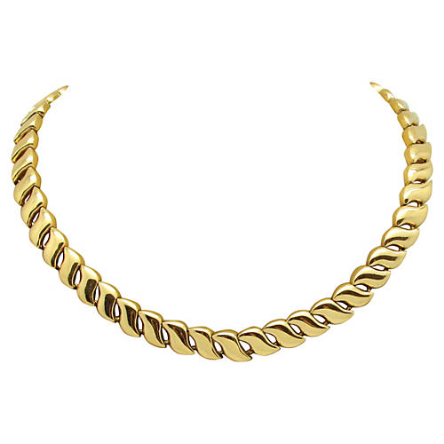 Curved Link Necklace