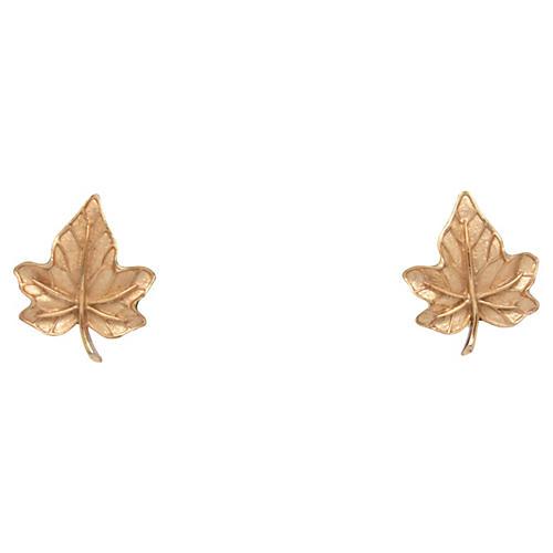 Trifari Leaf Earrings