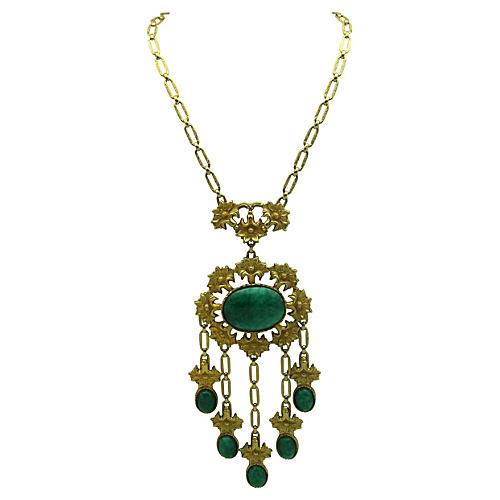 Faux-Jade Runway Necklace