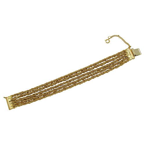 Five-Strand Gold Rope Bracelet