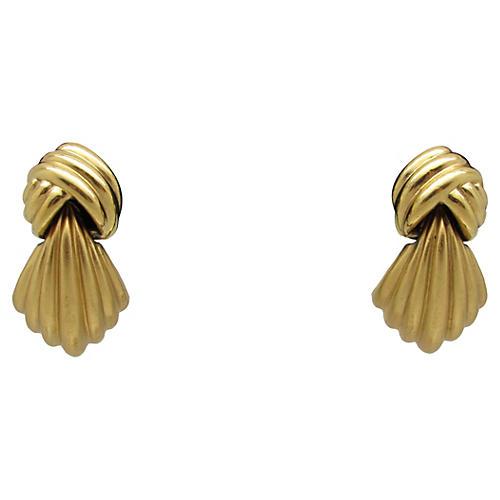 1980s Monet Door Knocker-Style Earrings