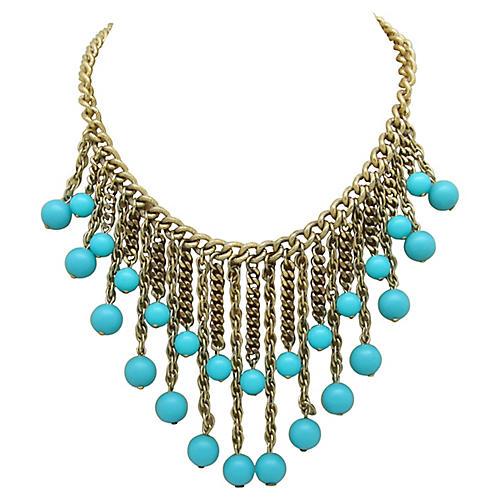 Faux-Turquoise Festoon Necklace