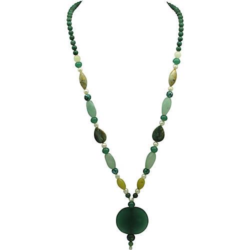 Asian-Style Nephrite Quartz Necklace