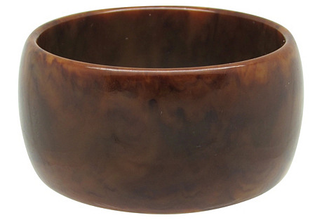 Wide Faux-Tortoiseshell Bakelite Bangle