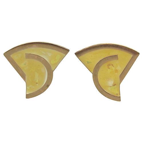 1980s Monet Geometric Earrings