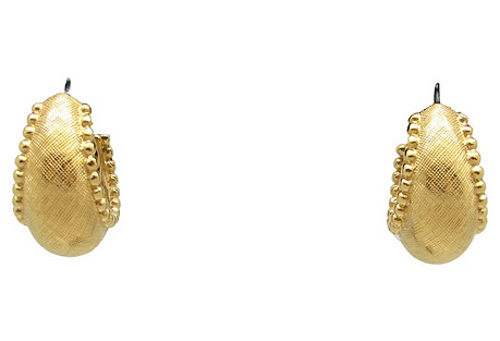 Monet Brushed Goldtone Hoop Earrings