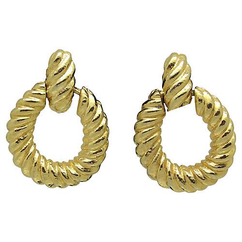 Goldtone Pendulum-Style Earrings
