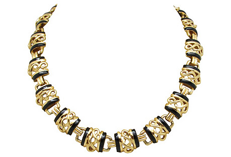 Goldtone St. John Link Necklace