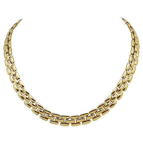 Napier Goldtone Link Collar Necklace