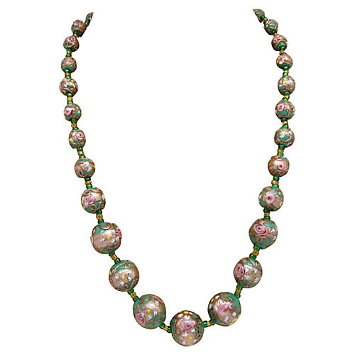 Graduated Murano Glass Bead Necklace