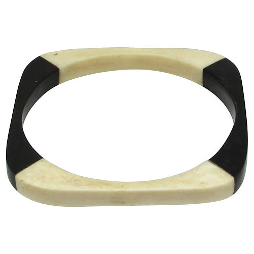 Bone and Horn Rounded Square Bangle