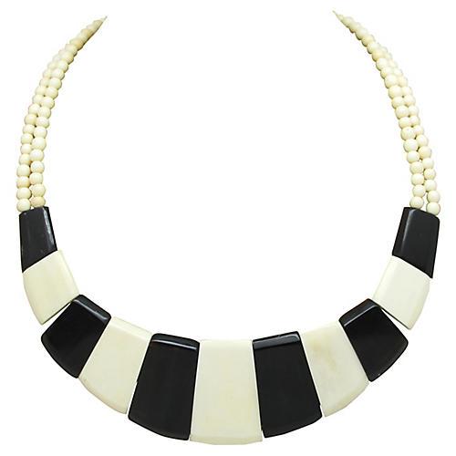 Alternating Bone & Horn Necklace