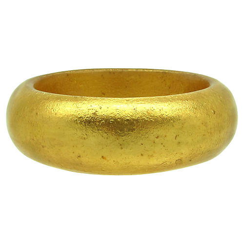Goldtone Lucite Bangle