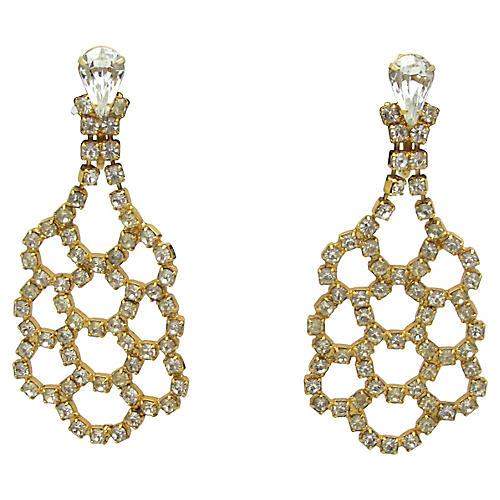 Lattice Pendulum-Style Earrings