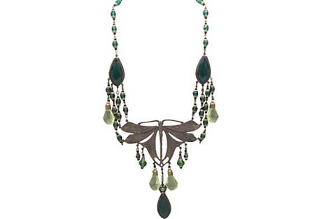 Czech Art Nouveau-Style Necklace