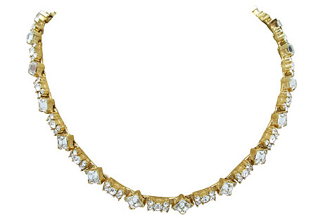 Monet Diamond & Bow Link Necklace