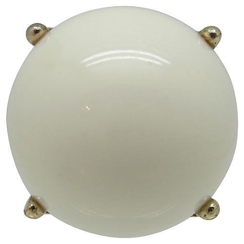 White Domed Cocktail Ring