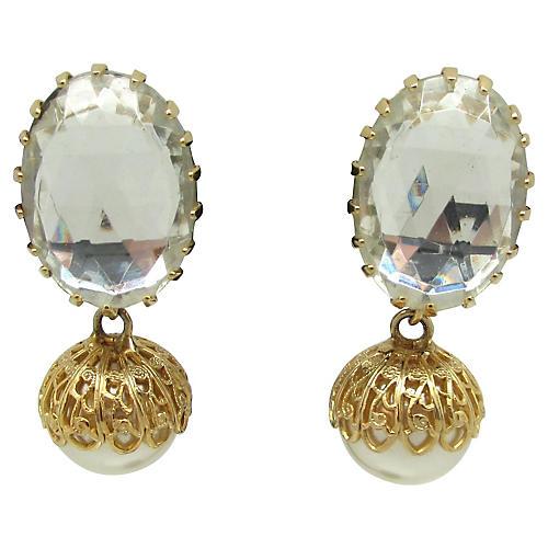 Schreiner Faux-Pearl Earrings