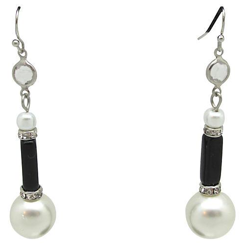 Art Deco-Style Pendulum Earrings