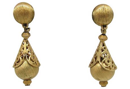 Monet Filigree Pendulum Earrings