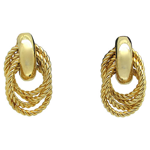 Multi-Rope Goldtone Earrings