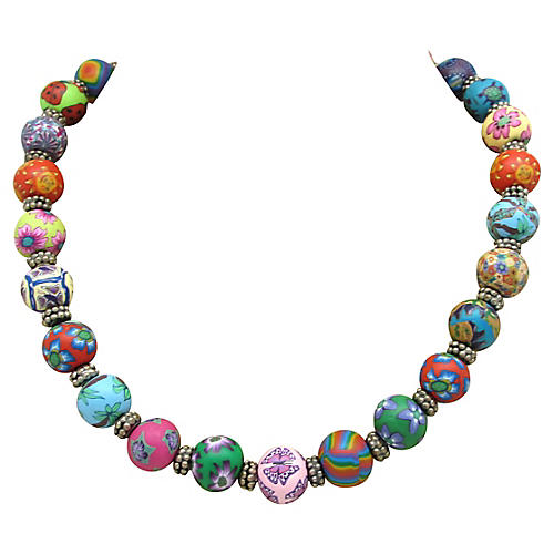 Colorful Clay Bead Necklace