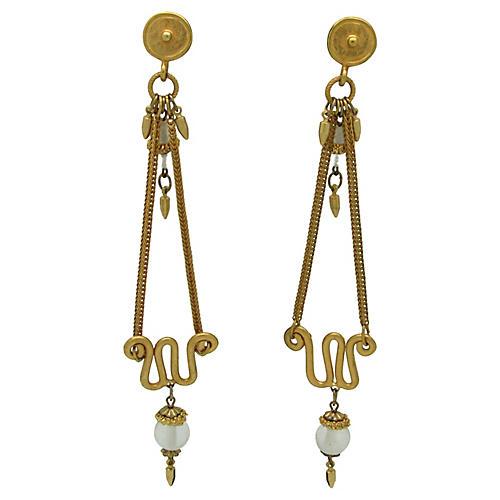 Etruscan-Style Chandelier Earrings