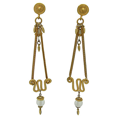 Etruscan-Style Chandelier Earrings
