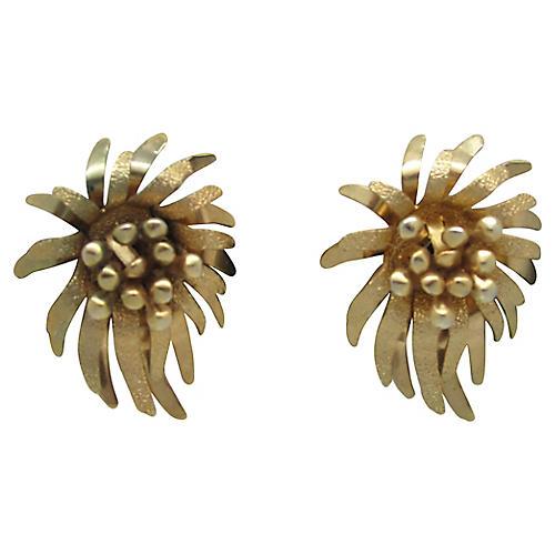 Flower Earrings w/ Articulated Petals