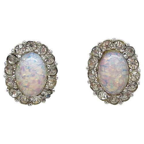 Marcel Boucher Faux-Opal Earrings