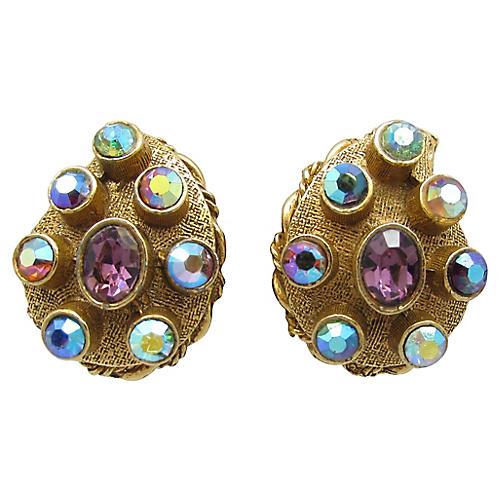 Byzantine-Style Ornate Teardrop Earrings
