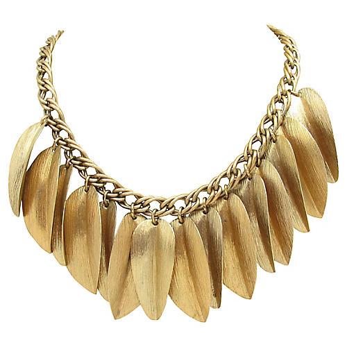 Festoon Leaf Charm Necklace