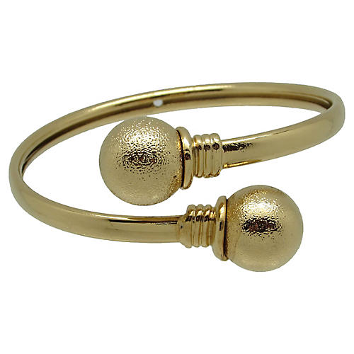 Goldtone Wrap Bangle