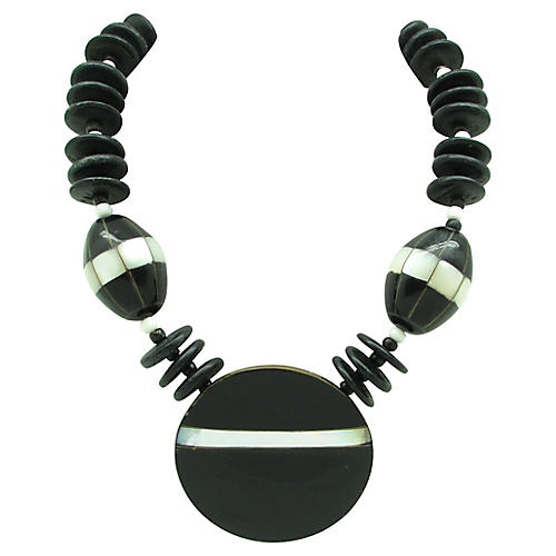 Wood & Mother-of-Pearl Necklace