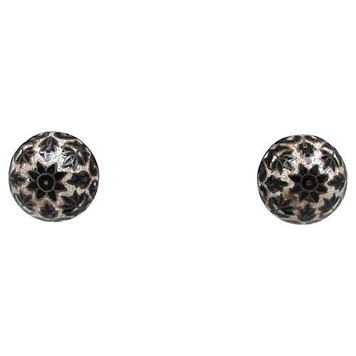 East Indian Enameled Earrings