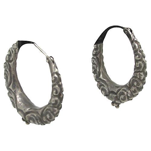 Repoussé Hoop Earrings