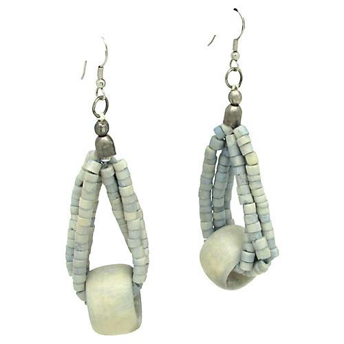 Three-Strand Toggle Beaded Earrings