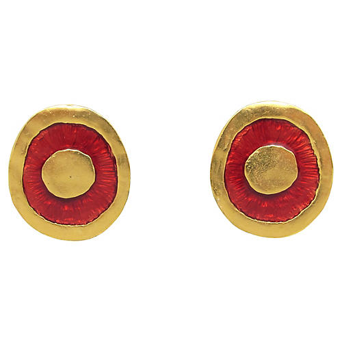 Valerie Viloin Labbe Enameled Earrings