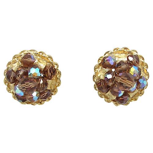 Kramer Topaz AB Cluster Bead Earrings