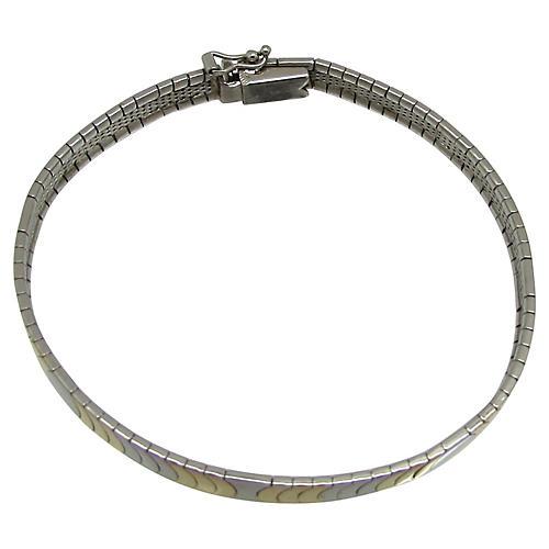 Italian Sterling Crescent Link Bracelet