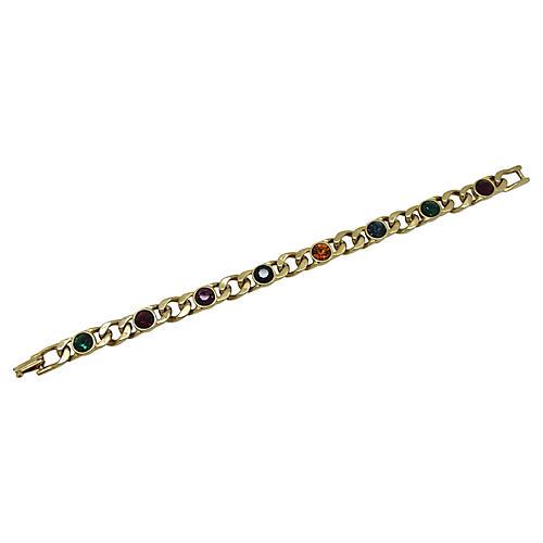 Color Glass Link Bracelet