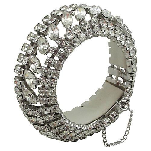 Five-Row Rhinestone Bracelet