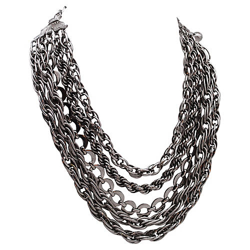 Multi-Strand Rope & Link Chain Necklace