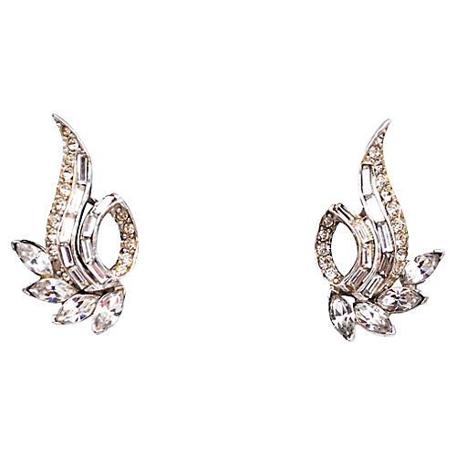 Pell Scrolling Rhinestone Earrings