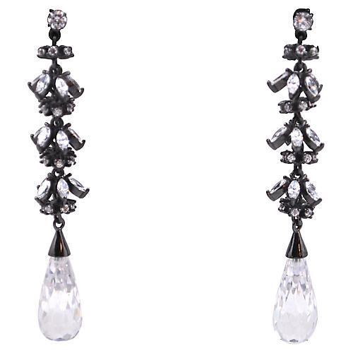 Rhinestone Tiered Earrings