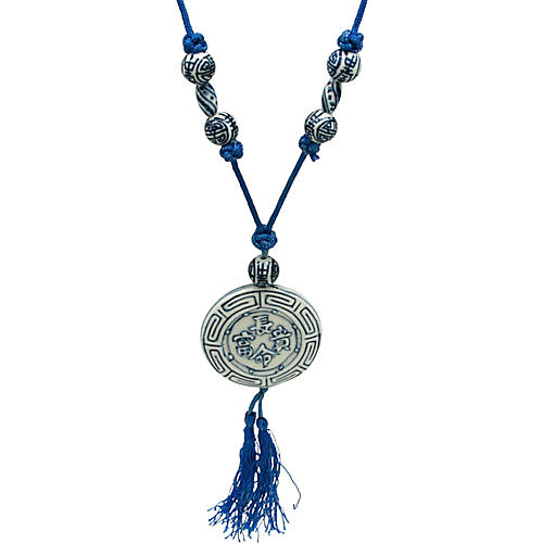 Asian-Style Porcelain Bead Necklace