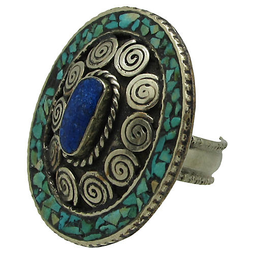 Turquoise & Lapis Inlay Ring