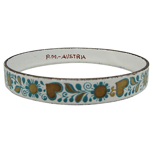 1960s Austrian Enameled Bangle