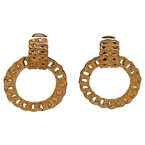 Cable Link Pendulum Earrings